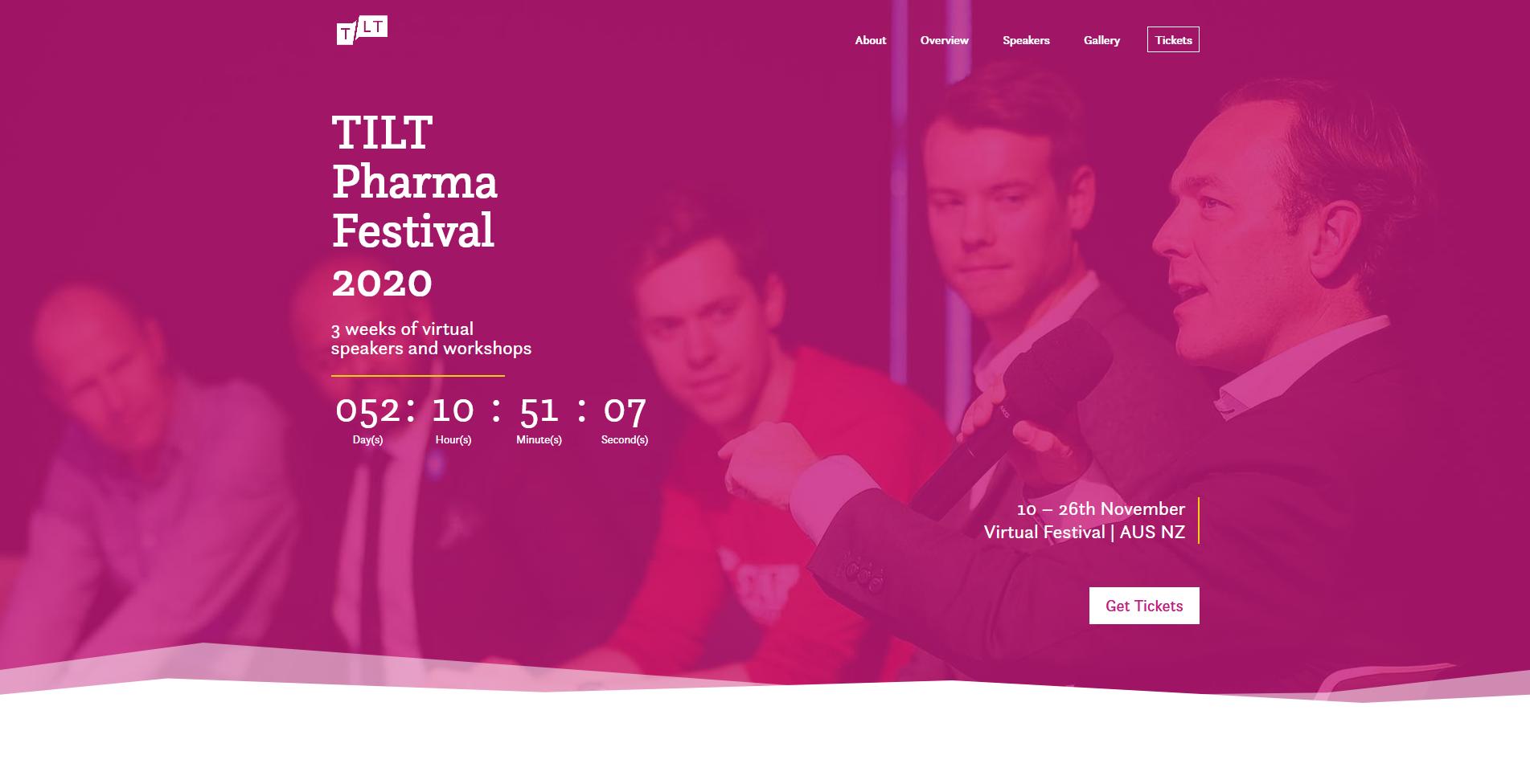 TILT Festival 2020 - WordPress website development